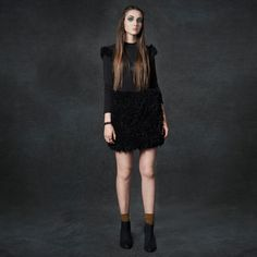 i love that babe fur dress!