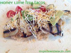 My Pinterest Reality: Honey Lime Fish Taco Bar