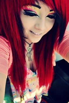 scene girls with red hair - Google Search