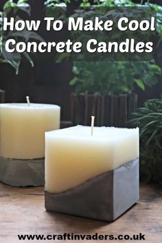 candle making business These concrete candles are made using old pillar candles and homemade moulds. They are a great way of trying out candle making without spending a fortune. Diy Candles Easy, Homemade Candles, Best Candles, Pillar Candles, Scented Candles, Make Candles, Homemade Gifts, Diy Gifts, Candle Maker