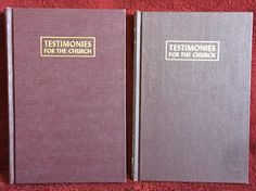 Ellen G White Duo: Testimonies for the Church Volumes 3 & 9 Maroon HB 1948 SDA