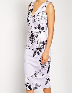Enlarge ASOS Lilac Floral Pencil Dress
