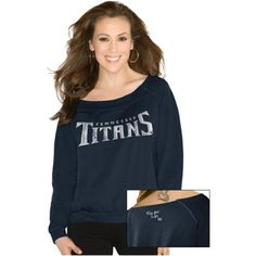 Touch By Alyssa Milano Tennessee Titans Ladies Draft Choice Boat Neck Sweatshirt - Navy Blue