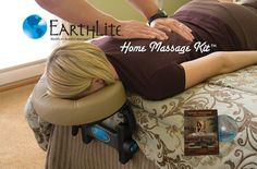 Home Massage Kit.  Adjustable headrest attaches to the bed allowing for home massage, massage for elderly who cannot use a table - its a great idea. $110