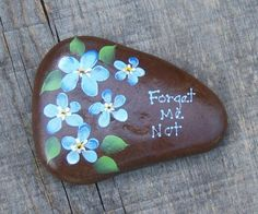 Cute. Messages painted on rocks look great in the garden, around a potted plant, a large rock with a greeting by the front door. Endless possibilities.