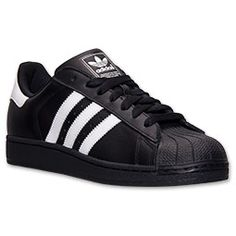 Men s adidas Superstar II Casual Shoes   Finish Line   Black White Adidas  Men, 42bfd2e6b0