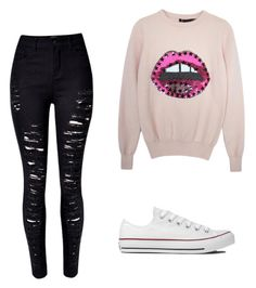 """Cute outfit for movies❤️"" by susand08 ❤ liked on Polyvore featuring Converse"
