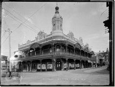 Mechanics' Institute at the corner of Hay and Pier Streets,Perth in Western Australia (year unknown).