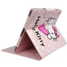 Lovely Hello kitty PU Leather Case For iPad 2 / The New iPad - The new iPad Cases - iPad Accessories
