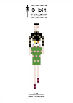 Mary Katranzou. 8 bit-fashionary pixel illustrations from the 2011 & 2010 seasons.