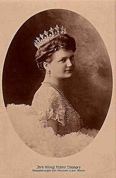 Eleonore Grand Duchess of Hesse (wife of Grand Duke Ernst, grandson of Queen Victoria) wearing the Hesse diamond tiara