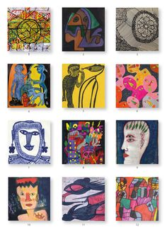 The artists of Challenge 216 Outsider Art, Jean Dubuffet, Challenges, Cards, Painting, Artists, Painting Art, Paintings, Maps