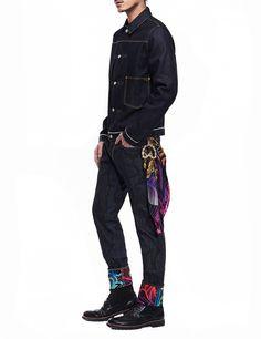 022d3ab15094 EVISU x INSA M s Seagull Raw Denim Jeans Evisu Jeans