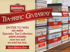 Enter to win our entire specialty tea collection