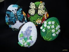 pisanki quillingowe Quilling Videos, Quilling Jewelry, Quilling Craft, Quilling Techniques, Quilling Patterns, Quilling Designs, Paper Quilling, Egg Crafts, Easter Crafts