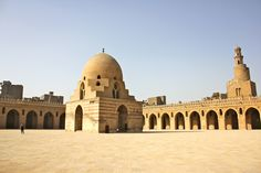 Ahmed Ibn Tulun Mosque The courtyard with the fountain and only mineret still standing