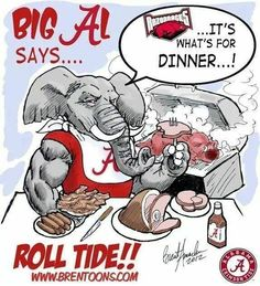 Big Al Alabama Football vs Razorbacks Sec Football, Crimson Tide Football, Alabama Football, Alabama Crimson Tide, College Football, Football 2013, Football Jokes, Football Stuff, Big Al