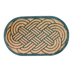 Entryways Lover's Knot Recycled Rubber and Coir Doormat by Entryways. $34.97. Will not crack or buckle; resists mold, mildew and fading. Tough for use as a boot-scraper - removes dirt and moisture. 18 in x 30 in. Tough for use as a boot-scraper-removes dirt and moisture. This elegant mat is a durable combination of all-natural coconut fiber and recycled rubber worth ease of cleaning.
