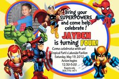 "Photo 3 of 8: Marvel Superheroes Squad / Birthday ""Jaydens 4th b-day""   Catch My Party"