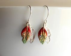 Stunning Sterling Silver Earrings with delicate Pohutukawa leaves…