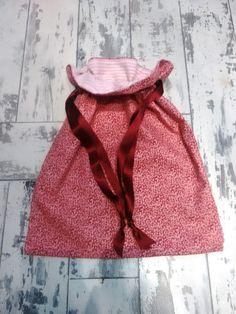 Lined rose pink drawstring bag