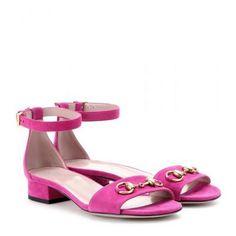 Gucci - Suede sandals #sandals #gucciogucci #gucci #designer #covetme