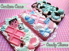 Custom Candy Themed Decoden Phone Case / Made to Order Custom Decoden Case / Kawaii Decoden Case / iPhone Samsung iPod Moto G
