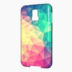 Farbenfrohes Regenbogen Low Poly Case Design ideal für Trendsetter. Abstraktes Dreieck Kunstwerk für dein Handy. Minimales Zeitloses Hipster Geometrie Muster. Coole Accessoires perfekt zum verschenken
