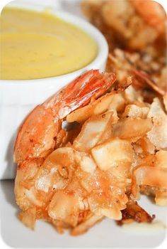Coconut Shrimp with Creamy Mango Dipping Sauce @FoodBlogs