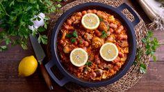 Paella moruna (Baella Al'Maghrebi) - Najat Kaanache - Receta - Canal Cocina Chorizo, Comida India, Chana Masala, Chili, Soup, Ethnic Recipes, Gastronomia, The World, Food Recipes