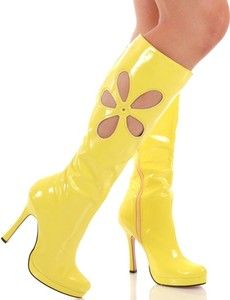 love these-but still a fan of knee high white gogo boots High Heel Boots, Shoe Boots, High Heels, 70s Fashion, Vintage Fashion, Womens Fashion, Yellow Shoes, Me Too Shoes, 70s Shoes