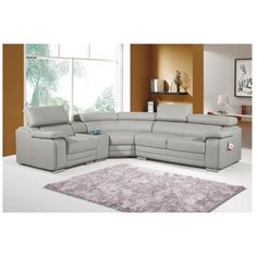 Dakota Taupe Leather Corner Sofa Left/Hand - Corner Sofas