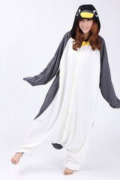 KIGURUMI Animal Costume Pajamas Pyjamas Onesie Adult / Kid SLOTH-penguin. $49.99, via Etsy.