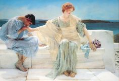 Le Prince Lointain: Lawrence Alma-Tadema  (1836-1912), Ask Me No More ...