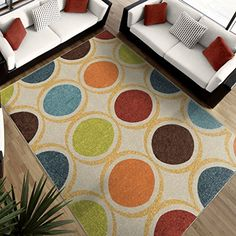 Orian Rugs Geometric Color Circles Multi Area Rug 52 x 76 -- Be sure to check out this awesome product.