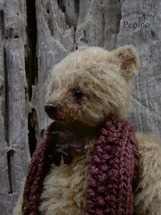 Pepino, Miniature Alpaca Teddy Bear from Aerlinn Bears, available from Etsy