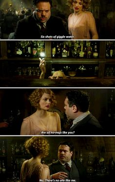 Fantastic Beasts and Where to Find Them - It's love at first sight. He sees her and he doesn't know if it's just the magic in the air or there's something about her that's just like they were meant to be together but they're not allowed to be together.