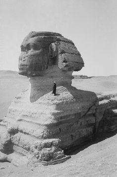 Great Sphinx, Cairo, Egypt, 1900-1930.