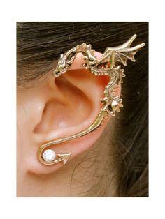 Dragon Ear Wrap Dragon Ear Cuff Bronze Classic Dragon Ear Wrap Dragon Jewelry Game of Thrones Inspired Dragon Earring Non Pierced Earring - Lässig - Piercing Oreja Ear Jewelry, Body Jewelry, Fine Jewelry, Jewellery, Skull Jewelry, Hippie Jewelry, Cartilage Earrings, Ear Piercings, Stud Earrings