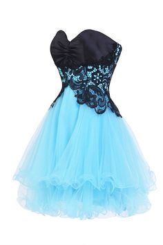 Ellames Sweetheart Bridesmaid Short Prom Homecoming Party Dresses For Juniors Blue US 2 * Be sure to check out this awesome product. (This is an affiliate link and I receive a commission for the sales) Pretty Prom Dresses, Plus Size Prom Dresses, Pretty Outfits, Homecoming Dresses, Cute Dresses, Beautiful Dresses, Short Dresses, Girls Dresses, Bridesmaid Dresses