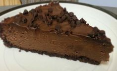 Chocolate Chips on Chocolate #Cheesecake.  Click For Recipe