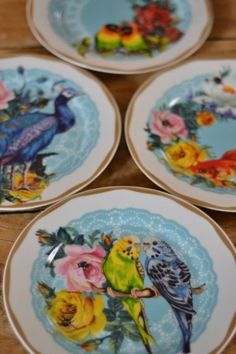 Wanderlust Peacock & Bird Plates