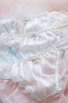 Pretty Lingerie, Cotton Lace, Clubwear, Pink Blue, White Shorts, Tracking Number, Feminine, Ruffle Blouse, Womens Fashion