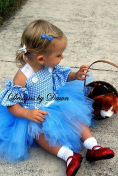 Dorothy style dress. Blue gingham corset top with arm sleeves and tutu skirt…