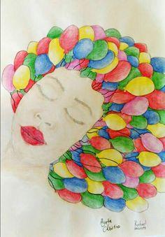 Auto retrato ... e os balões