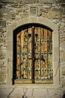 Door, Wooden, Old, Entrance, Church