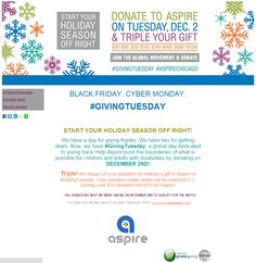 Aspire Chicago's #GivingTuesday Donation Page submission! @AspireOrg