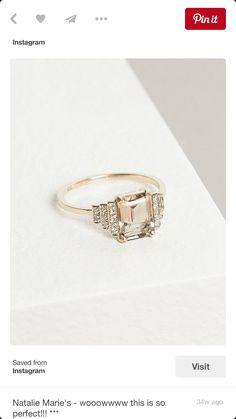 Modern - vintage engagement ring