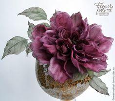 """Silkflowers. Цветы ручной работы. Ярмарка Мастеров - ручная работа Оксаны Чистовой. Роза """"Lady"""" из шелка. Цветы из ткани. Handmade."""
