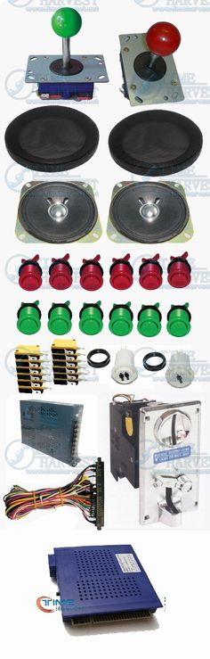 108.00$  Watch here  - Arcade parts Bundle kits With 621 in 1 PCB Pushbutton Power supply Coin acceptor Joystick to Build Up Arcade Machine By Yourself